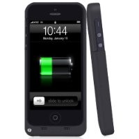 i-Blason Apple iPhone 5S / iPhone 5 PowerGlider Rechargeable External Battery Full Protection Case [iOS 7 Compatible] with Apple new 8 Pin Lightning Charging Connectors - AT&T, Sprint, Verizon. T-Mobile (Black)