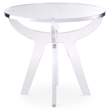 Antigua Side Table, Acrylic / Lucite, Standard Side Tables