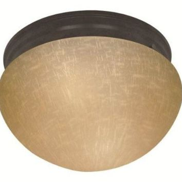 "Nuvo 60-2656 - 10"" Flush Mount Ceiling Light in Mahogany Bronze Finish"