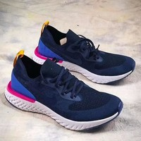 Nike Epic React Flyknit fly-knit super light running shoes F-ADD-MRY blue