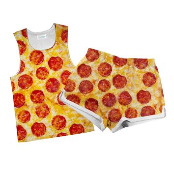 Party Pizza Combo Tank Top and Women's Shorts
