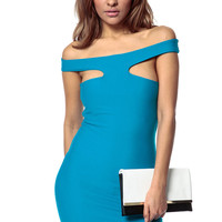 Cut Out Solid Dress