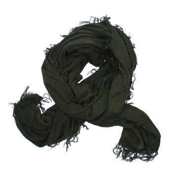 Distressed Scarf in Olive
