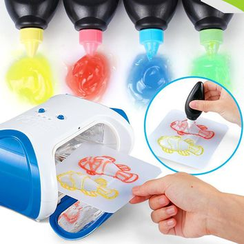 Funny Gadgets Creative 3D Magic Machine DIY Kid Printer Magic Pen Drawing Doodle Science Development Toys Gifts Education Gadget