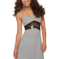 Kassidy Stripe Dress - Black