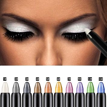 Eye Shadow OutTop Newly Design 1pc Cosmetic Makeup Highlighter Glitter Eye Shadow Pencil Drop Shipping maquiagem