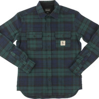 Diamond Caribou Flannel Longsleeve Buttonup Small Navy