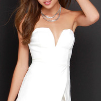 For Sienna Love Story of My Life Ivory Strapless Romper