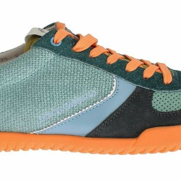 Dolce & Gabbana Multicolor Leather Casual Sneakers Shoes