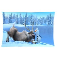 Disney Movie 3D Cartoon Frozen Cute Olaf Custom Rectangle Pillow Cases 16x24 (one side)