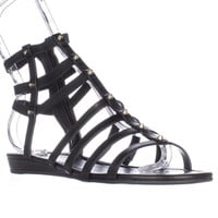 Marc Fisher Pritty Studed Gladiator Sandals - Black