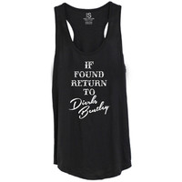 Women's If Found Return To Dierks Bentley Racerback Tank Top - Black