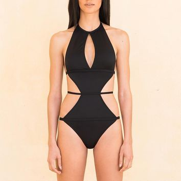 Laced Around Body Swimsuits Women 2018 New One Piece strappy Monokini swimsuit Backless black one piece strappy swimsuit