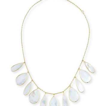 Ippolita 18K Polished Rock Candy Pear Necklace in Mother-of-Pearl