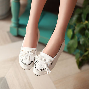 Tassel Women Wedges Platform Shoes 5402