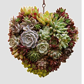 Metal Hanging Plant Basket 3D Heart Shape Succulent Flower Pot Home Decor Plant Wreath Flower Pots Garden Art T0.16