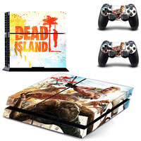 Dead island design skin for ps4 decal sticker console & controllers