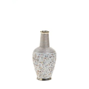 Coastal Living-Seashell Mosaic Vase