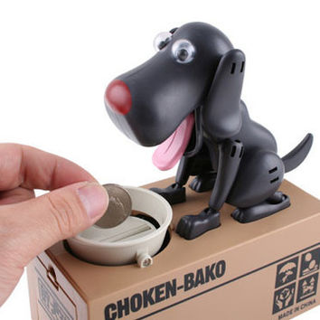 Free Shipping 1Piece Safe Hucha Dog Money Box Money Bank Automatic Stole Coin Piggy Bank Money Saving Box Moneybox Gifts for kid