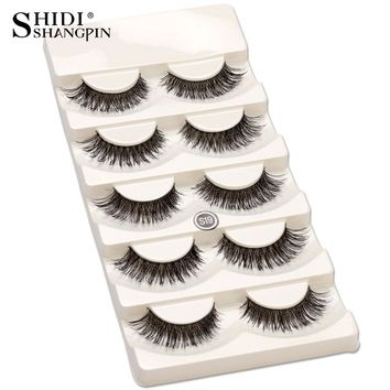 5 pair/set False Eyelashes Black Cross Fake Eye Lashes Natural Long Makeup Eyelash Extension Fake Eyelashes Wispy Eye Lashes