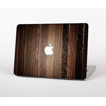 "The Dark Wood Texture V5 Skin Set for the Apple MacBook Pro 13"" with Retina Display"