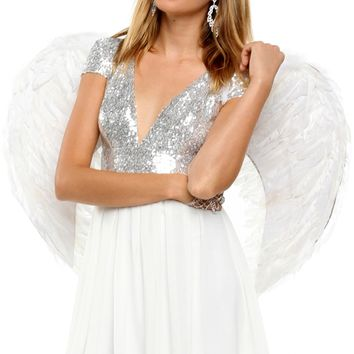 Sale-white Feathered Wings