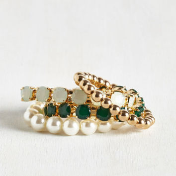 Vintage Inspired The Four, the Merrier Bracelet Set by ModCloth