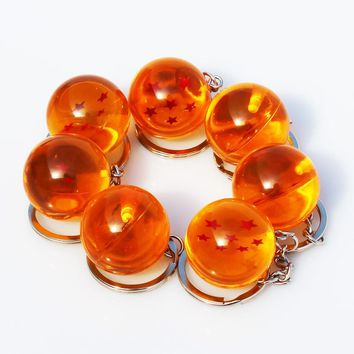 2.5cm selectable Dragon Ball Z 7 Stars Crystal Balls Keychain Pendant Figure Toys Gift For Collection 1 2 3 4 5 6 7 Stars