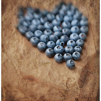 Fruit photography still life photography food art kitchen art 8x12 photo print kitchen wall decor rustic kitchen wall art brown blue