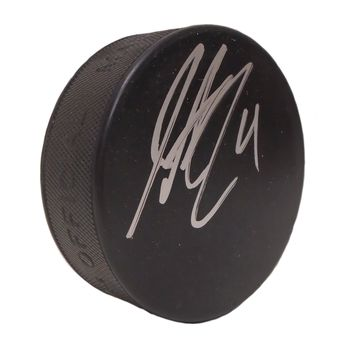 Justin Schultz Autographed Hockey Puck, Proof Photo