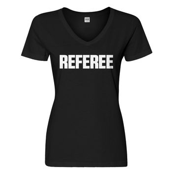 Womens Referee Vneck T-shirt