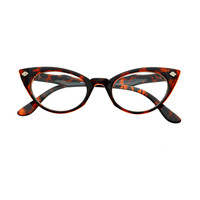 Vintage Fashion Cool Arms Clear Lens Cat Eye Glasses Frames C79