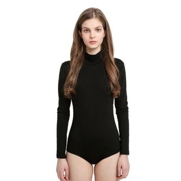 Turtleneck Backless Bodysuit