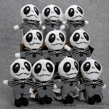 "The Nightmare Before Christmas Jack Plush Toys Pendant Soft Stuffed Dolls 5"" 13cm 10pcs/lot"