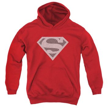Superman - Elephant Shield Youth Pull Over Hoodie