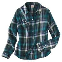 Mossimo Supply Co. Juniors Long Sleeve Plaid Shirt - Assorted Colors
