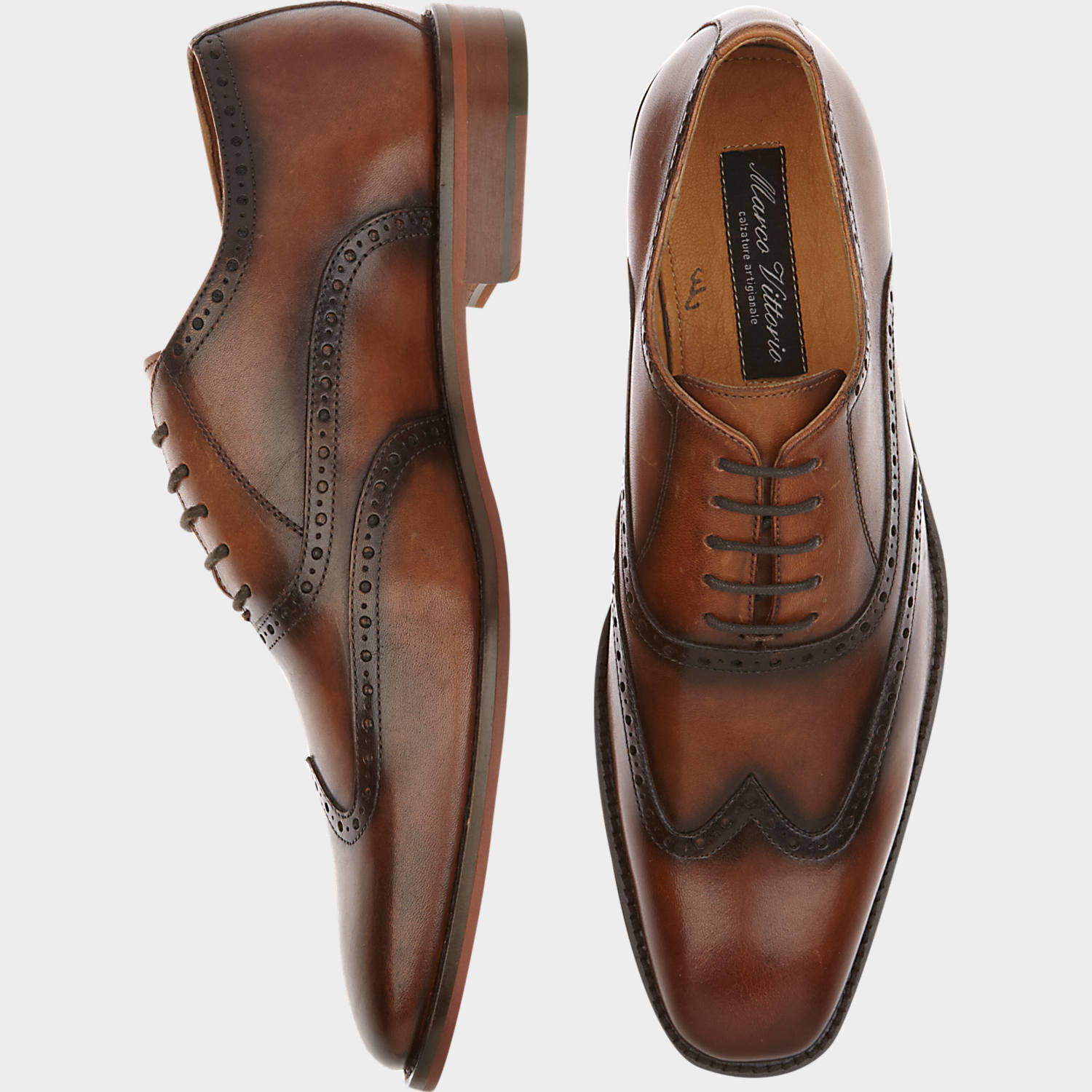 marco vittorio monza brown wingtip lace from s wearhouse