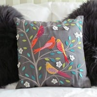 Tropical Birds Cushion | Homely Hearts