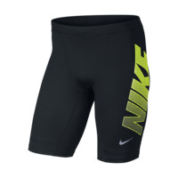 Nike Dri-FIT Essential Graphic Half Men's Running Tights Size Large (Black)