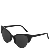 Cherie Cateye Sunglasses - Black