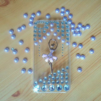 pink beauty dancing.iphone case.jewelry.DIY iphone 4/4s case.
