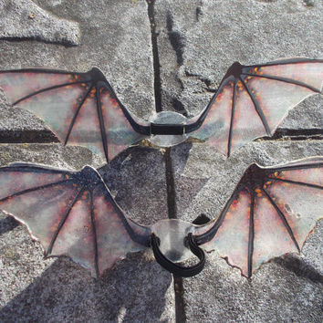 Wyrmcraft - Handmade Translucent Fantasy Wings - Dragon in Molten