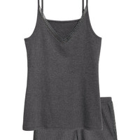 Pajama Tank Top and Shorts - from H&M
