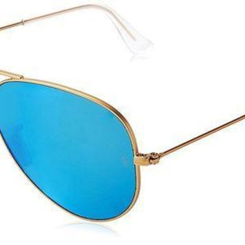 CREYONG6 Ray-Ban Women's Oversized Mirrored Aviator Sunglasses