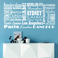 Modern , Urban and Contemporary - World Cities - Wall Decals , Home WallArt Decals