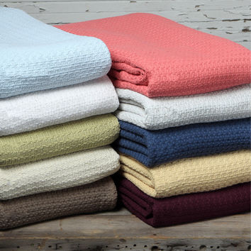 Grand Hotel Woven Cotton Throw Blanket | Overstock.com Shopping - The Best Deals on Blankets