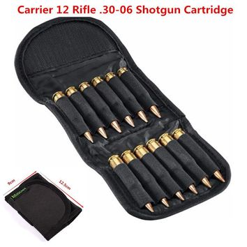 Rifle Cartridge Padded Holder Carrier 12 Rifle .30-06 Shotgun Cartridge Wallet Hunting Accessory Escopetas De Caceria Gun Caza