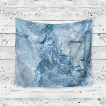 Blue Crystal Stone Marble Agate Wall Tapestry