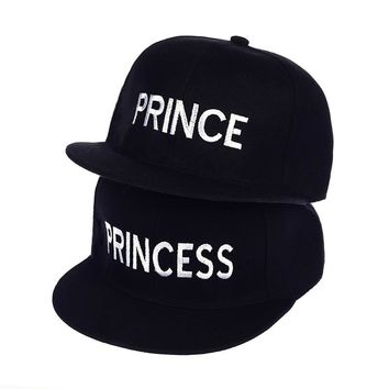 Trendy Winter Jacket Hot Sale PRINCE PRINCESS Embroidery men women Snapback Hat Couple Baseball Cap friend Gifts For Fashion Hip-hop Caps AT_92_12