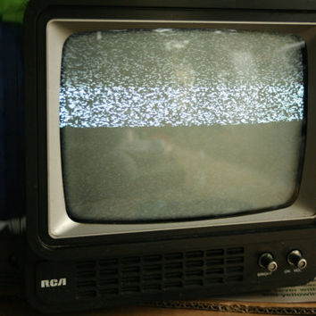 Set Design, Portable RCA  TV, Television Screen, Working, Retro TV, Electronics, Faux Wood